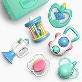 GizmoVine 6pcs Rassel Baby , Greifling Baby Spielzeug, Kleinkinder Neugeborene Glocken Spielzeug Schütteln Musikalisches Spielzeug mit Aufbewahrungsbox für Baby Spielzeug ab 0 ,3, 6, 9, 12 Monate