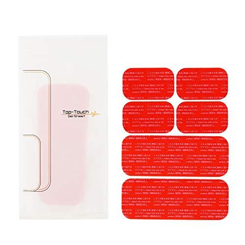 Top Touch EMS 用 互換 ジェルシート 腹筋/お腹周り 専用 5.1×14.4cm:2枚、3.7×6.4cm:4枚 アブズ 腹筋 ベルト トレーニング ジェル パッド 交換 パット ジェルパッド