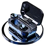 Auriculares inalámbricos con Bluetooth 5.0 con Estuche de Carga Micrófono Hi-FI Sonido Estéreo Control Táctil Apagar Prender Responder Cancelar Ajustar el Vol. Cambiar Pausar Video música.