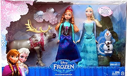 Disney Frozen - Friends Collection - Reine des Neiges Elsa et Anna avec Sven et Olaf