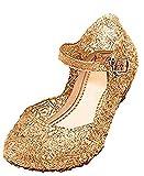 YOGLY Sandalias para Niñas Disfraz Princesa Zapatos de Tacón Plástico Sandalias para Cosplay Cumpleaños Carnaval Fiesta