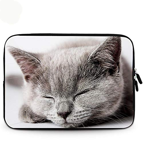 Laptop Notebook Case Tablet Sleeve Cover Bag 11 12 13 14 15 17 Inch For Macbook Pro Air Retina Xiaomi Huawei HP Dell Lenovo-15 inches_Cat