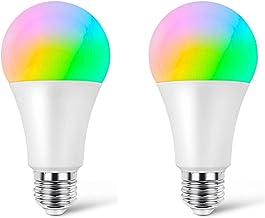 Slimme wifi-lamp, geen hub vereist, 60 W-equivalente meerkleurige Ambiance LED-lamp, werkt met Alexa, Google Assistant, Ho...