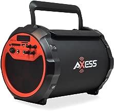 AXESS SPBT1034 Portable Bluetooth Indoor/Outdoor 2.1 Hi-Fi Loud Speaker/Sing Along with Built-In 6