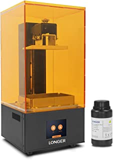 LONGER Orange 10 3D Printer, Resin SLA 3D Printer with Touch Color Screen, Parallel LED Lighting, Off-line Printing, Self-developed Slicing Software, Temperature Warning Build Size 3.86 x 2.17x 5.5 in