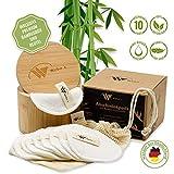 Abschminkpads Waschbar aus Bambus | Valentinstag Geschenk | 10 wiederverwendbare Bambus-Pads |...