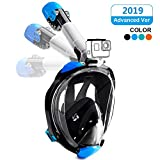 Full Face Snorkeling Mask Easy Breathing 180° Seaview Snorkel Masks for Adults or