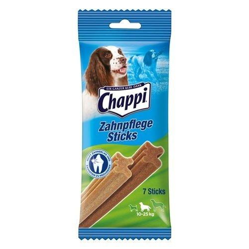 Chappi Dental-Hundesnacks - 70 Zahnpflege-Sticks zur Reduzierung von Zahnstein & Zahnbelag für mittelgroße Hunde von 10-25 kg, 10er Pack (10 x 175 g)