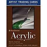 Strathmore (105-905 400 Series Acrylic Artist Trading Cards, Linen Canvas, Natural White, 10 Sheets