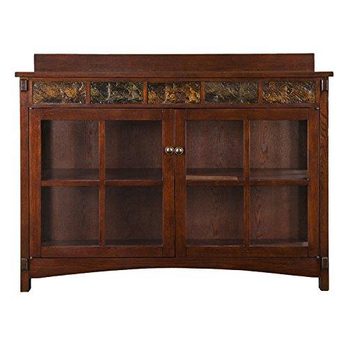 Mejor Baxton Studio Wholesale Interiors Zentra Sideboard Storage Cabinet with Glass Doors, Dark Brown crítica 2020