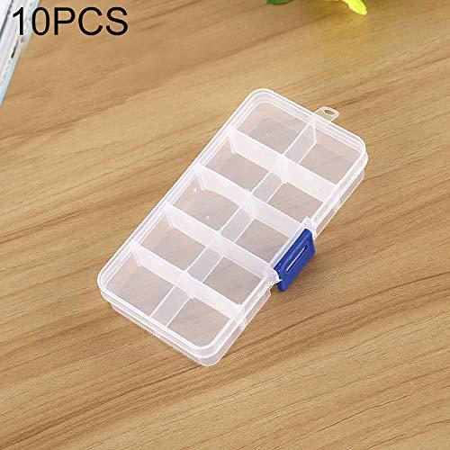 QICHENGBIN Mini Coffret à Bijoux Grille Amovible 10 Machines à sous boîte en Plastique Organisateur, for Les Bijoux Boucle d'oreille Hameçon Petit Accessoires (10 PCS) (Color : Color5)