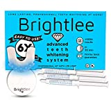 Brightlee Teeth Whitening Gel Kit with LED Light - For Brighter Tooth Whitening Long Lasting for 6 Shades Whiter in 2 Days, Better than White Strips plus UV Light - New for 2020