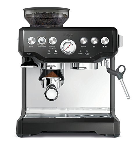 Sage SES875BKS The Barista Express Machine, 18/10 Steel, 1700 W, 6 liters, Black Sesame