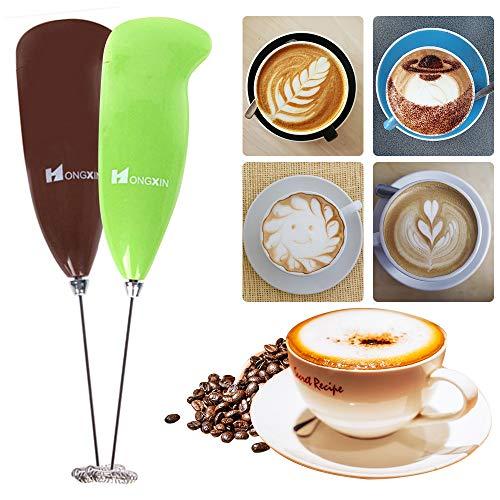 Walmeck- Elektrischer Milchaufschäumer Automatische Milchschaummaschine für kugelsicheren Kaffee Matcha Edelstahl Schneebesen Batteriebetriebener Mini-Mixer für Getränke