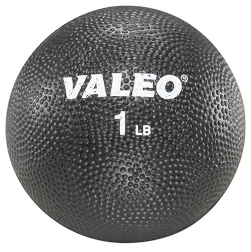 Valeo 1 Pound Textured Rubber Squeeze Ball With Comfortable Grip To Strengthen Hands, Wrists, And Forearm, VA4478BK, Black