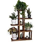 Soporte para plantas anticorrosivo de madera de varios pisos, soporte de madera...