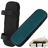 zootop Almohadillas para reposabrazos de gel de refrigeración con espuma viscoelástica para silla de oficina y reposabrazos, cómoda almohada de codo, cojín universal grueso y acolchado(negro)