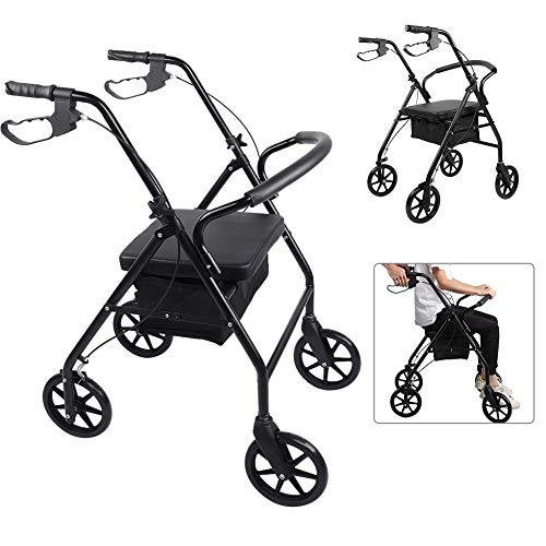 Firm Rust Proof Rollstuhl,Verstellbarer Rollstuhl Rostfrei Rollstuhl,Komfortable UnterstüTzung Rollstuhl Health Care Tool Faltrollstuhl Ergonomischer Sitz Und RüCkenlehne