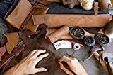 Hide & Drink, Rustic Durable Thick Leather Strap (3.5mm 3/4 in. Wide 72 in. Long), Children Craft, Cosplay, Design Project, Craft Workshop Handmade Includes 101 Year Warranty :: Bourbon Brown