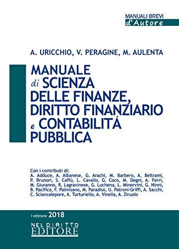 Manuale di scienza delle finanze, diritto finanziario e contabilità pubblica