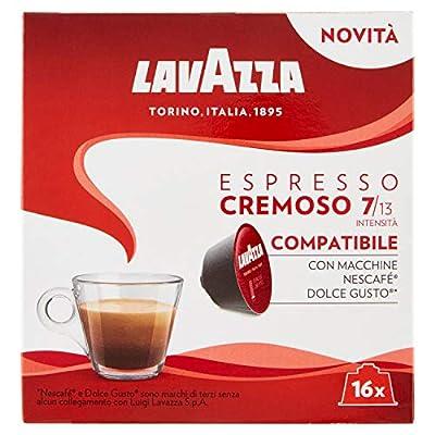Dolce Gusto Compatible Lavazza Cremoso Espresso Coffee Capsules (1 Pack of 16)