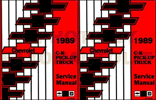 1989 Chevy CK Truck Factory Repair Shop & Service Manual Chevrolet Cheyenne Silverado Scottsdale Pickup 1500 2500 3500