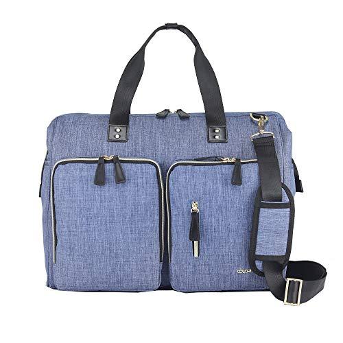 Bolsa organizadora de pañales para mamá, multifunción, gran capacidad, bolsa de hombro para bebé, bolsa de viaje para mamá y papá, con cambiador, amplia capacidad abierta
