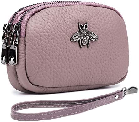 imeetu Coin Purse Leather Change Pouch Small Wallet with Wrist Strap Pink product image