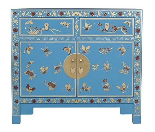 Fine Asianliving Chinesisches Kommode chinesisches Sideboard chinesischer Schrank chinesische Möbel Schlafzimmer Orientalischer Asiatischer 90x80x40