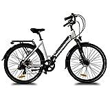 URBANBIKER City E-Bike Sidney 250W E-Bike Stadtrad 36V 14Ah (504Wh) Akku  Weiß 28'