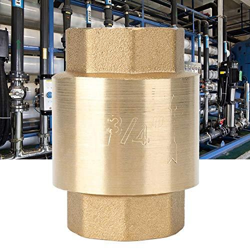 Filfeel Innengewinde Luft Gas Wasser Rückschlagventil, hochgenaues Messing-Rückschlagventil Rückschlagventil für Wasser Gas Öl(G3/4