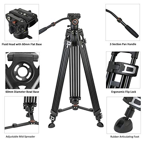 72-Inch Monopod with Quick Release and Ritz Gear Cleaning Kit Ritz Gear Tripod Stone Bag Vanguard VEO 2 265CB Carbon Fiber Tripod with VEO 2 BH-50 Ball Head