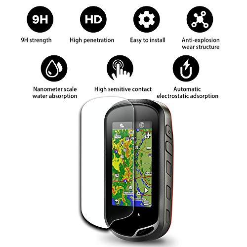 (2 Stücke) YEE PIN Displayschutzfolie Kompatibel mit Garmin Oregon 600 700t 650 750t GPS Navigation Schutzfolie Aus Gehärtetem Glas