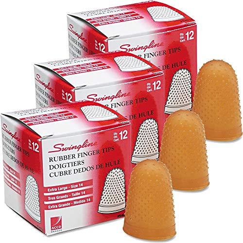 Large Rubber Finger Tips, Size 14, X-Large, 1/Dozen [Set of 3]