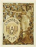 Champagne hau Reims Poster, Reproduktion, Format 50 x 70