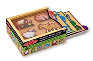 Animals Mini Puzzles Pack Set: This wooden set of four, 4-piece adorable animal puzzles features raised pieces for easy grasping and matching pictures under pieces Perfect for Travel: Slide out puzzle trays (farm, sea, jungle, and pets) include color...
