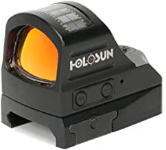 Holosun HS507C Reflex Sight 1x Selectable Reticle Weaver-Style Mount Solar/Battery Powered Black