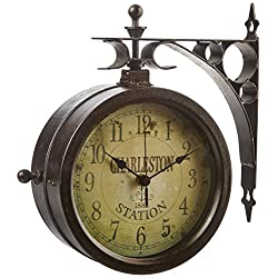 Infinity Indoor/Outdoor 8 The Charleston Double Sided Clock & Thermometer - 12430CT-RUV2