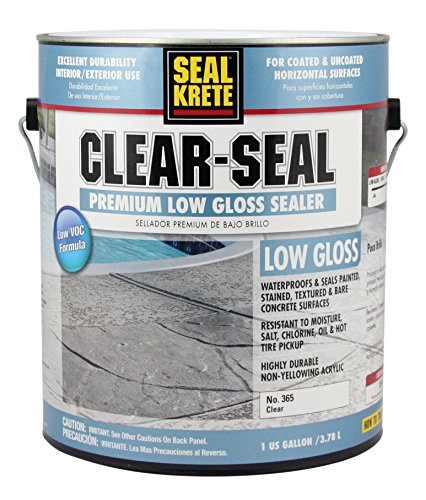 Seal-Krete 365001 Clear-Seal Premium Low Gloss Sealer, Gallon, Clear
