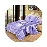 Roch Linen Silk Satin Luxurious Comforter - Box Stitched - 300 GSM Fluffy Comforter - Down Alternative Comforter - Soft and Comfortable - Machine Washable - Ultra Soft Comforter Lilac,Full/Queen