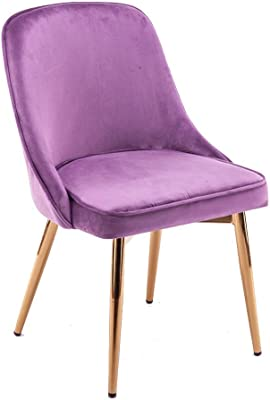 Velvet Padded Lounge Chair, Clean and Convenient Wrought Iron Bracket Sturdy and Durable Nordic Minimalist Style Cafe Chair Creative Design Living Room Dining Room Soft and Comfortable