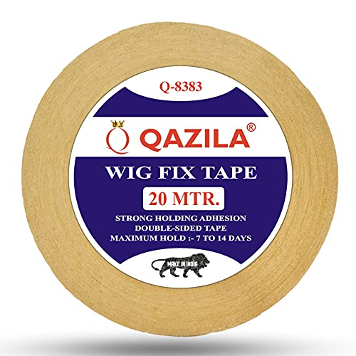 Qazila Hair patch tape|Wig tape|Double sided|Cloth tape|Waterproof|20 meters|Yellow