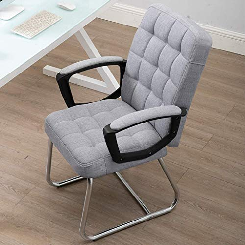 WSDSX Office Chairs Ergonomic Chair Ergonomic Chair,Leather Office Chair with Arms,Home Computer Chair, Office Boss Chair, Economical Swivel Chair,Latex Cushion (Color : Gray, Size : 47