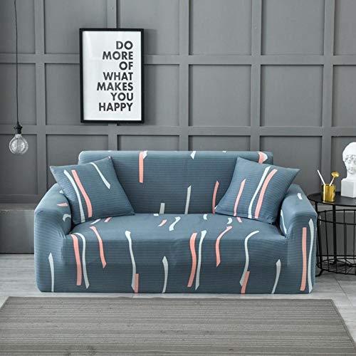 Boner Elastische Sofa Cover Spandex Modern Polyester Hoekbank Sofa Couch Hoes Stoelbeschermer Woonkamer 1/2/3/4 Zits, T, 3-zits 190-230cm
