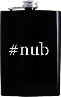 #nub - 8oz Hashtag Hip Alcohol Drinking Flask, Black