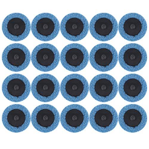 iplusmile 50 Stks 2 Inch Schuurschijven Set Snelwisselschijven Oppervlaktebehandeling Schijven Voor Braam Roestverf Verwijderen