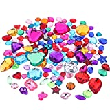 Richness Jewel Stickers Self Adhesive Jewels Kids DIY Gem Stickers Various of Sizes Shapes and Colors (300+300pcs)