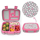 Bentgo Kids Prints (Pink Dots) - Leak-Proof, 5-Compartment Bento-Style...