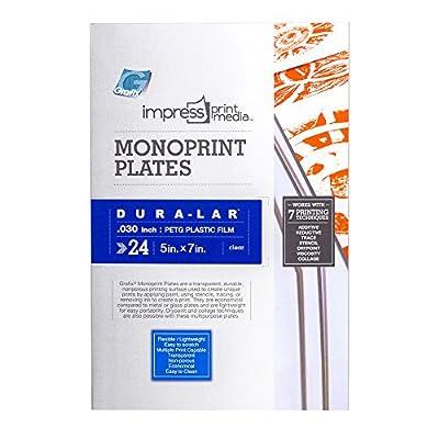 Grafix Impress Monoprint Plates, 4 x 6-Inch, 3-Pack