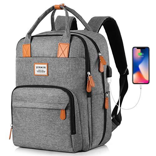 Rucksack Damen, Schulrucksack Mädchen Teenager für Schule Uni Reisen Freizeit Job mit Laptopfach & Anti Diebstahl Tasche, Lässiger Daypack Tagesrucksack mit USB